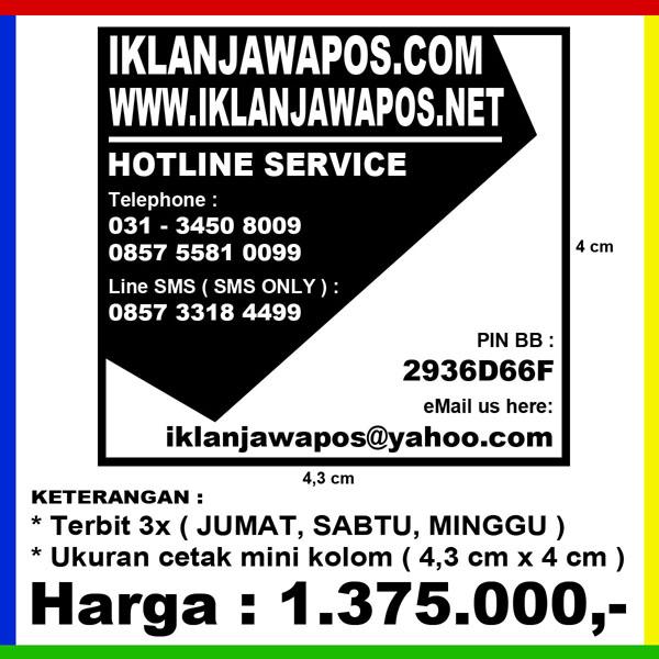 Iklan Mini Kolom Jawa Pos Aneka Kebutuhan