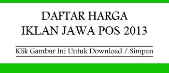 Daftar Harga Iklan Baris Jawa Pos 2013
