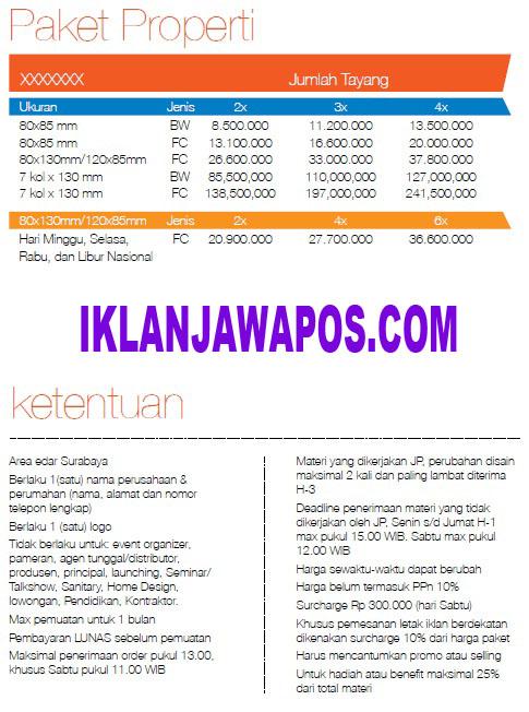 iklan jawa pos Paket Property 2014