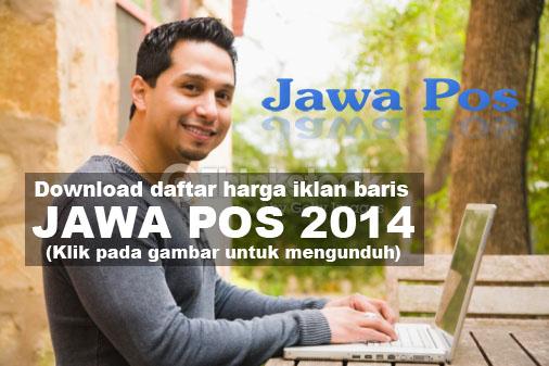 Daftar Harga Iklan Baris Jawa Pos 2014